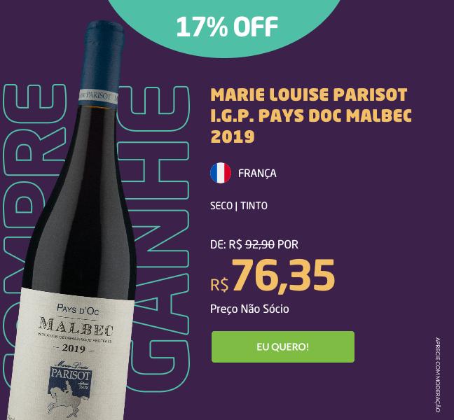Marie Louise Parisot I.G.P. Pays Doc Malbec 2019