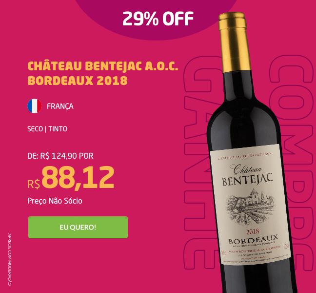 Château Bentejac A.O.C. Bordeaux 2018