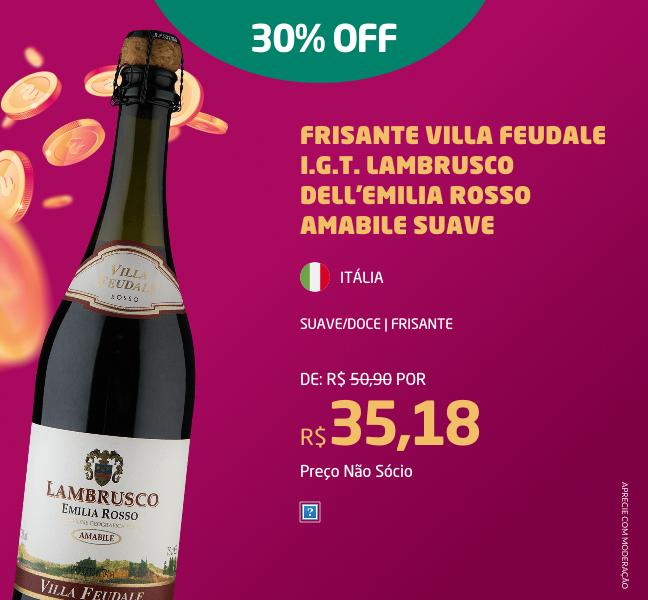 Frisante Villa Feudale I.G.T. Lambrusco Dell'Emilia Rosso Amabile Suave
