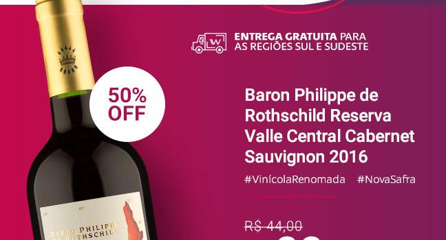 Baron Philippe de Rothschild Reserva Valle Central Cabernet Sauvignon 2016